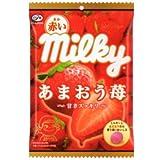 不二家 85g赤いミルキー(あまおう苺)袋 85g×6袋