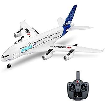 ACHICOO RC飛行機 固定翼 RTF付き WLTOYS A120-A380エアバス 510mm翼幅 2.4GHz 3CH モード2 リモートコントローラー スケール エアロモデリング 初心者