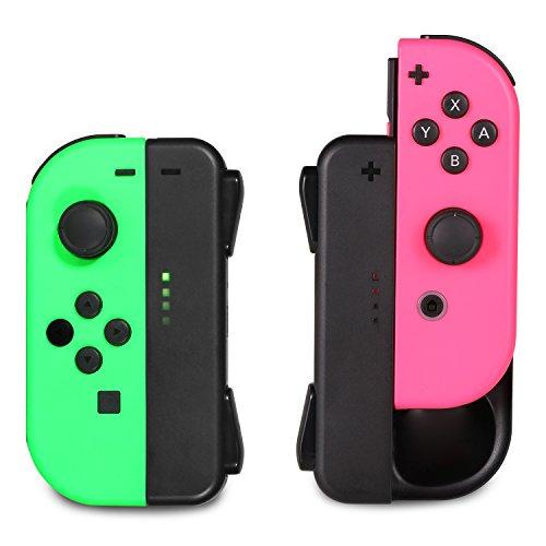 ジョイコン Joy-Con 充電グリップ Nintendo Switch用 プレイしながら充電可能 KINGTOP ニンテンドー スイッチ 充電ホルダー チャージャー 充電指示LED付 日本語説明書付き