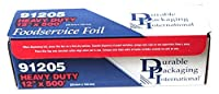 Durable Packaging 91205 Foil Heavy Duty Aluminum Foil Roll 12 Width x 500' Length [並行輸入品]
