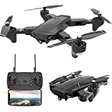 4K Foldable RC Drone, SX20 2.4GHz Remote/Phone/Tablet Controlled RTF Quadcopter with 120° Wide-Angle Full HD Camera Video Hea