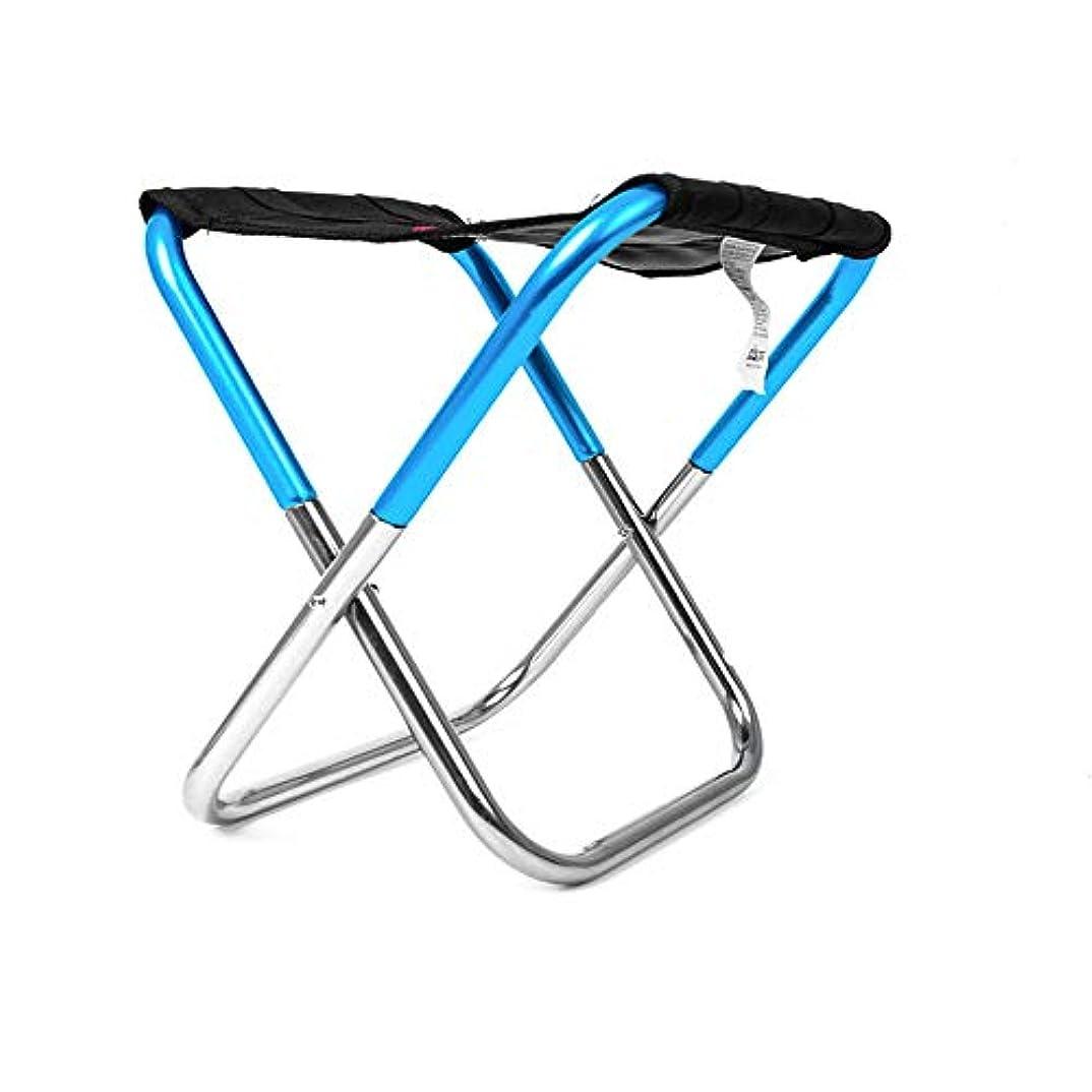 資格防腐剤モール軽量フレーム折りたたみ大人ミニキャンプスツールポータブルアルミオックスフォード布椅子用釣りハイキングビーチ屋外、スーパーコンフォート アウトドア キャンプ用 (色 : 青)