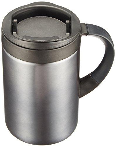 キャプテンスタッグ マグカップ 水筒 【蓋付/保温・保冷】 ダブルステンレス シーエスプリ 280ml ブラック M-5370