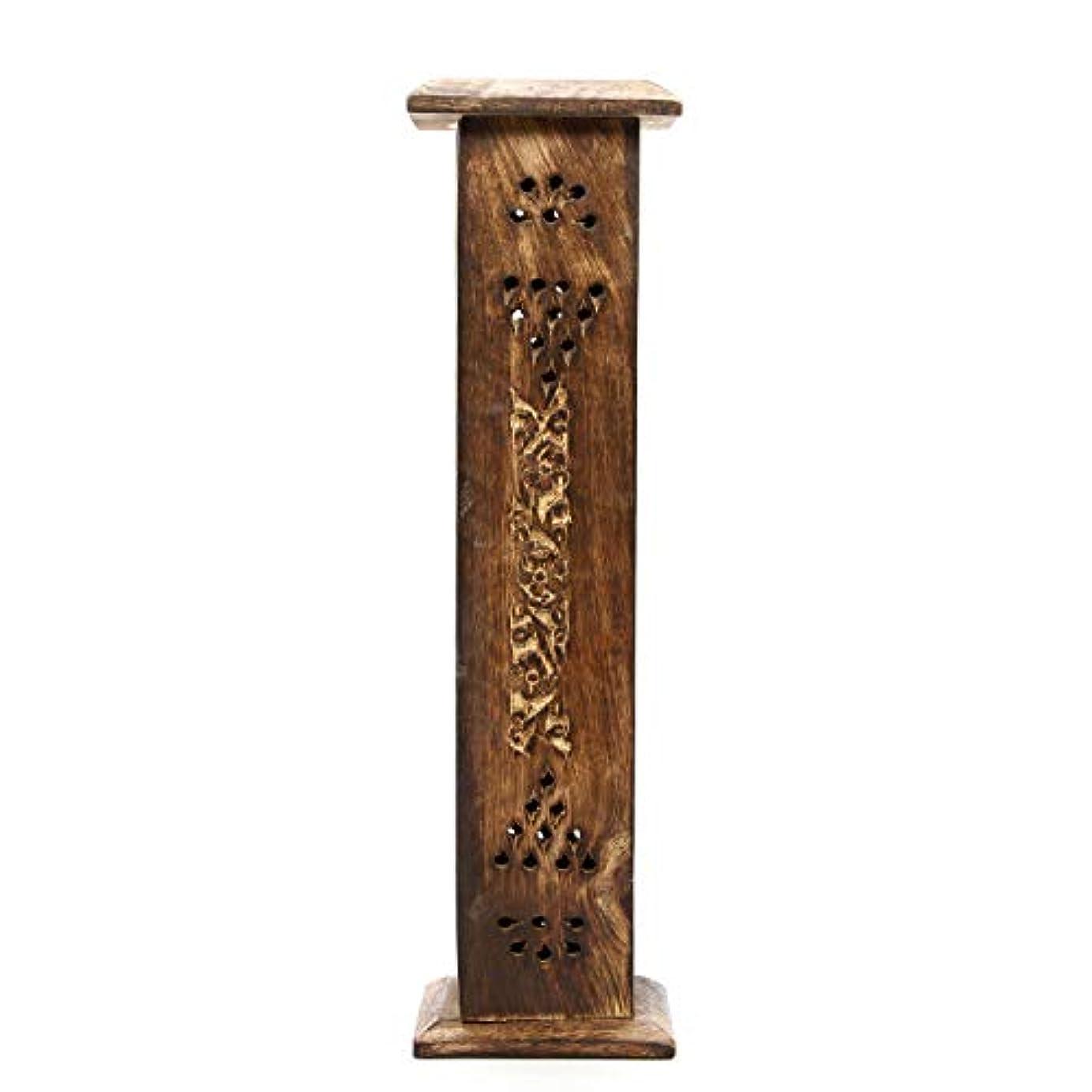接続絶望的なモンクHosley's Wood Incense Tower with 20 Incense Sticks - 30cm High. Ideal Gift for Aromatherapy, Zen, Spa, Vastu,...