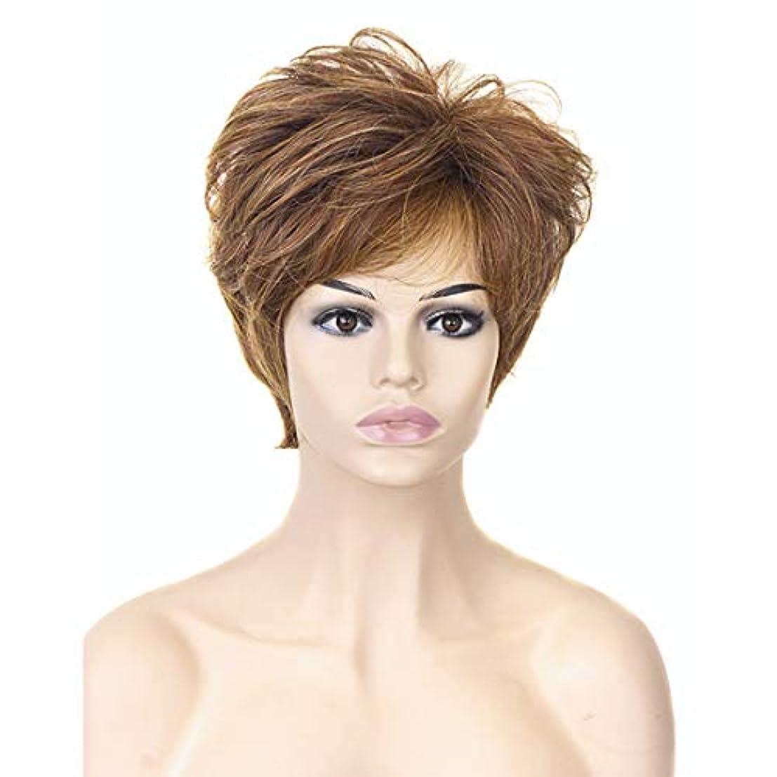 ピースクリスチャンハプニングYOUQIU 女性の耐熱ウィッグナチュラルヘアウィッグのためのブロンド10