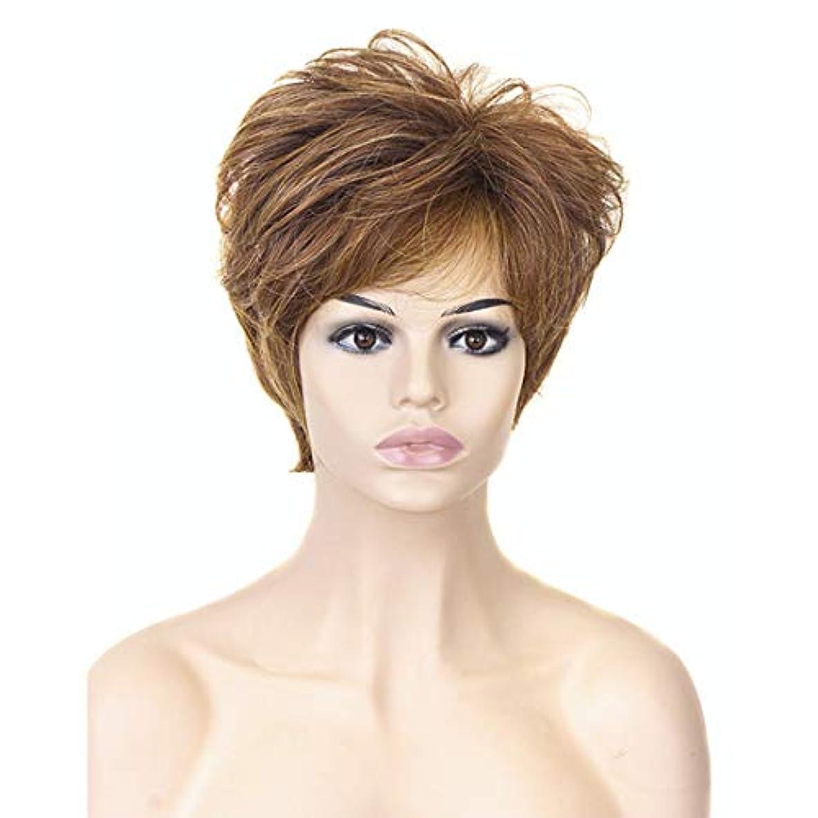 重荷受信機キモいYOUQIU 女性の耐熱ウィッグナチュラルヘアウィッグのためのブロンド10