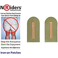 NoRiders 3-inch Iron-on Patches with Stays [6-Pack]
