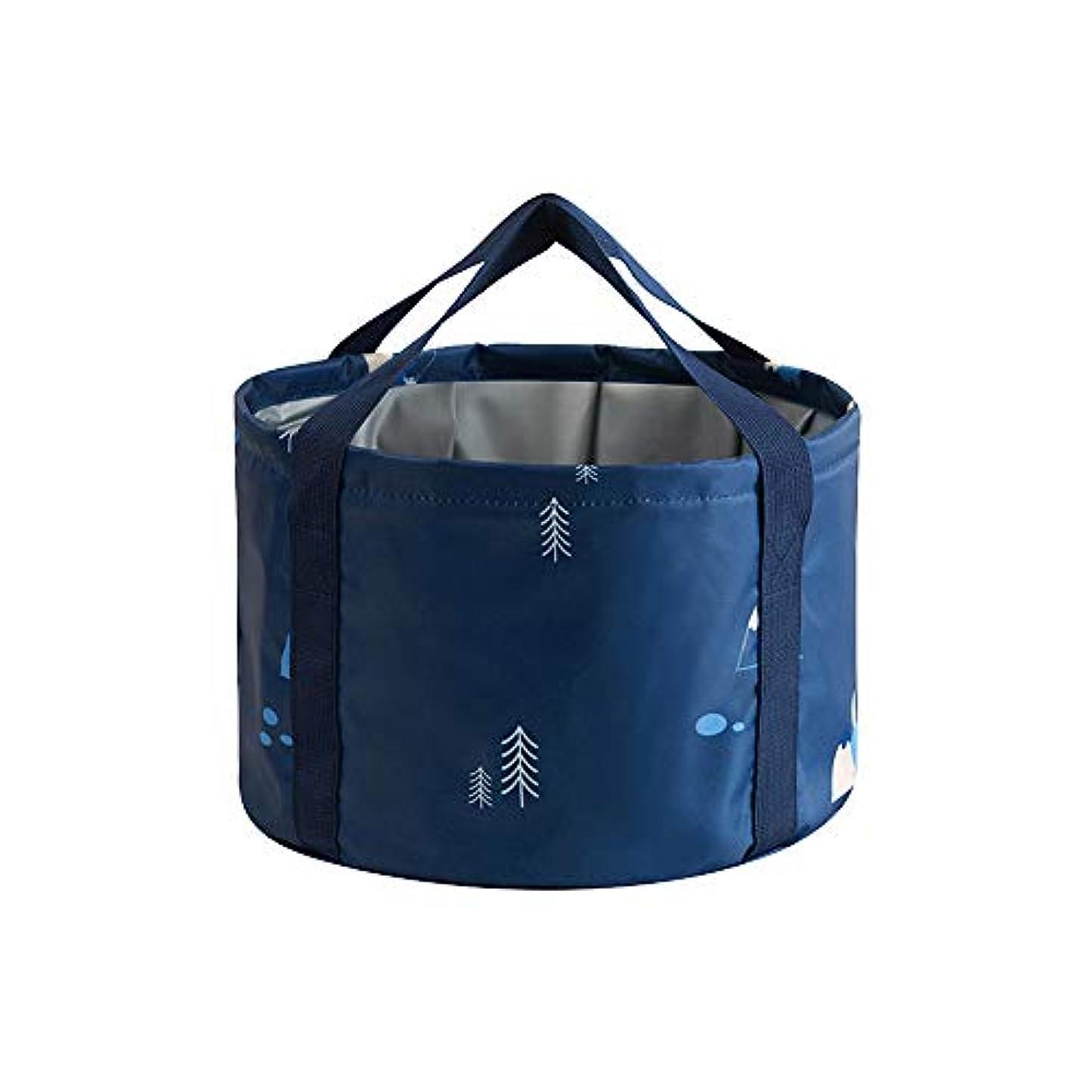 混合した肌意気込みXueliee 旅行用フットバッグ、フットウォッシュバケツ、折りたたみ式、洗濯槽、屋外用ウォーターバッグ、水貯蔵、収納バッグ、洗面台、ポータブル、大 (35 x 26cm,5色)