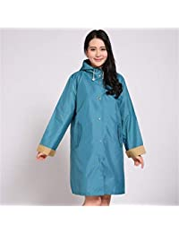 AN 長袖ポンチョ防水ファッションレディースと長いセクションの薄いセクションのアダルトレインコートの女性の韓国語バージョン (Color : Blue Green, サイズ : M)