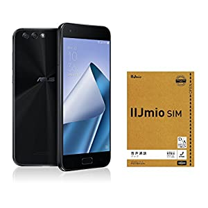 ASUS ZenFone4 SIMフリー スマートフォン (ブラック/5.5インチ)【日本正規代理店品】(オクタコアCPU/6GB/64GB/3300mAh)ZE554KL-BK64S6/A ZE554KL-BK64S6/A & IIJmio エントリーパッケージセット
