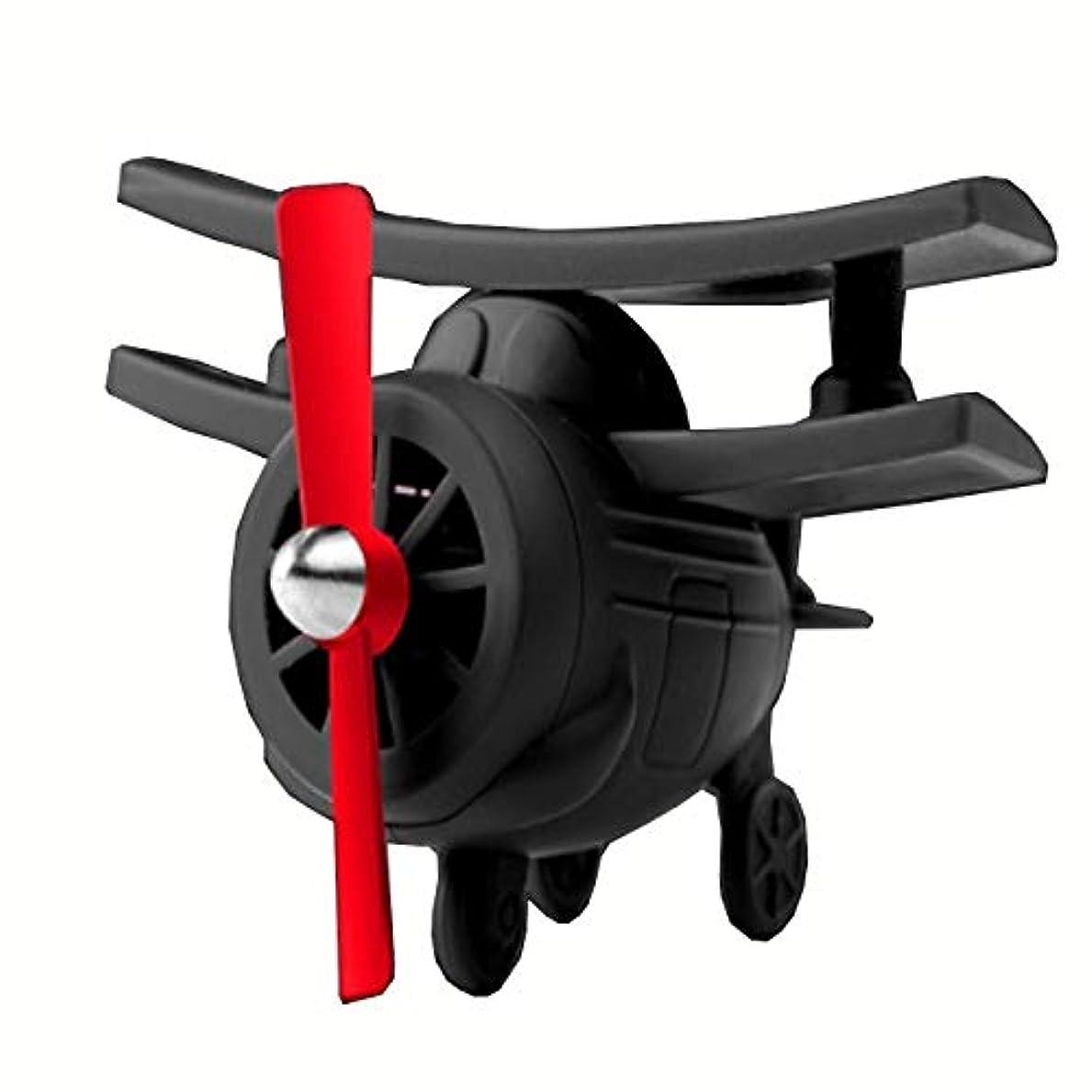 UTST 車 用 ディフューザー 空気清浄 アロマ 精油 おもしろ 飛行機 香り 脱臭 室内 消臭 芳香剤 などに (ブラック, アロマ飛行)