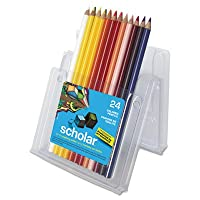 Prismacolor Scholar Colored、Woodcase鉛筆24Assorted色/セット