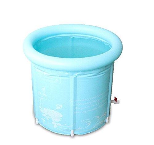 折畳み浴槽 ビニール製 ダブルサイズ 大人用 65*70cm