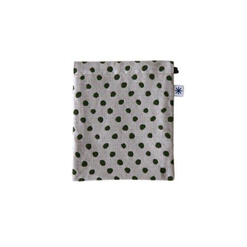 米織小紋・巾着袋(中) (豆絞り)