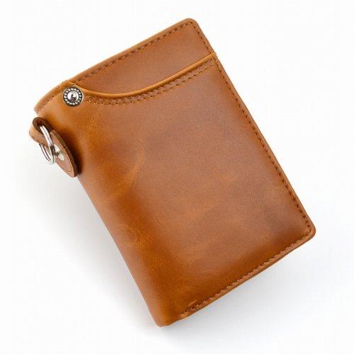 7899b34139f0 [イギンボトム]Igginbottomウォッシュドレザー カードスライダー 牛革 メンズ 二つ折り財布 (キャメル)
