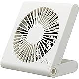 ピエリア 卓上扇風機 スリムコンパクトファン 3電源(AC,USB,乾電池) ホワイト FSR-106U WH