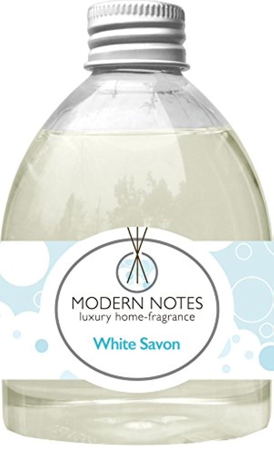会社巨大な明快MODERN NOTES リードディフューザー(大) WHITE SAVON 240mL