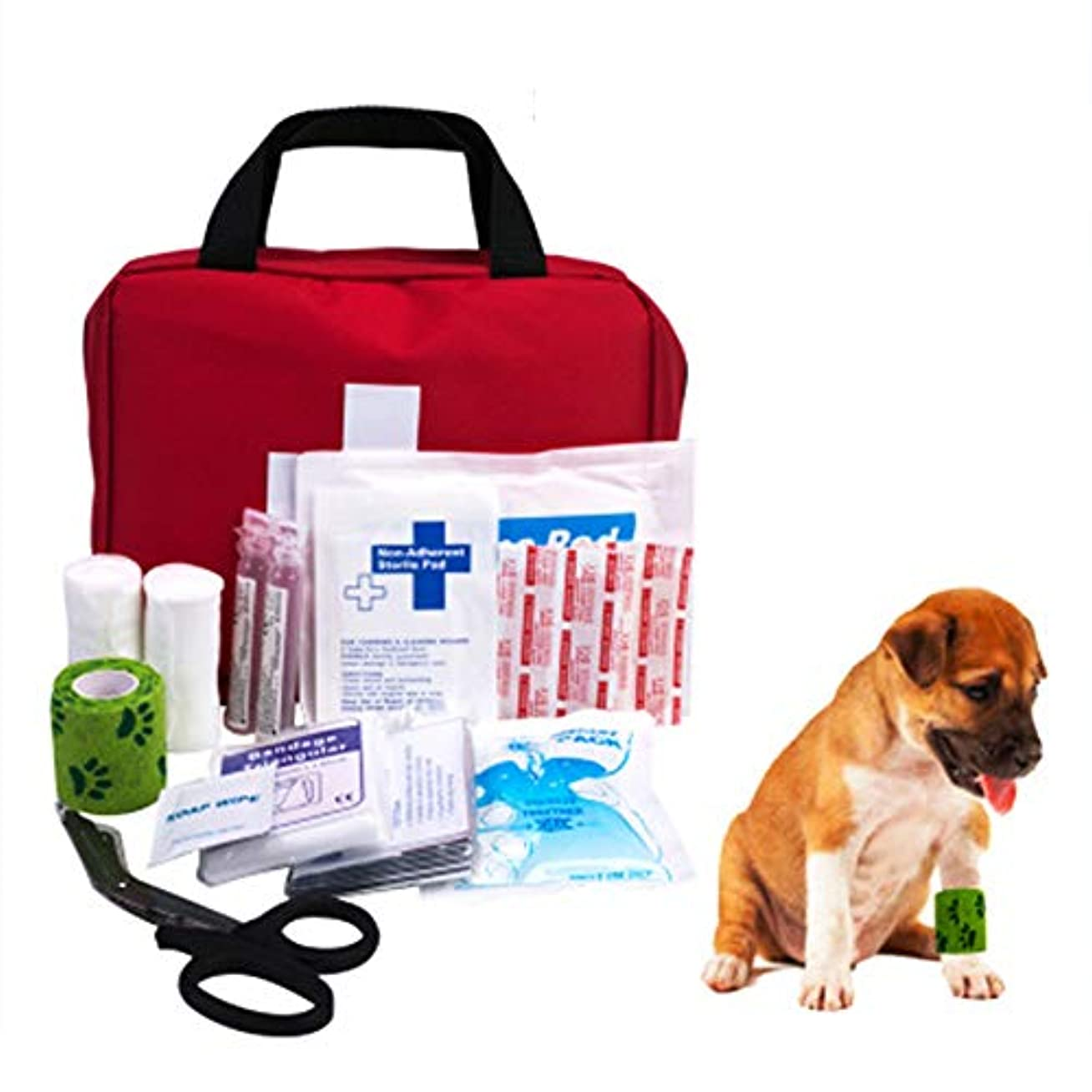 恐怖症うるさいハードウェアプレミアムペット応急処置キット - 安全緊急時安全製品、毎日の犬あなたのペットが事故を起こした場合に備えて注意すること