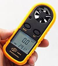 【ノーブランド品】デジタル 風速計 温度計搭載 風速計測 GM816