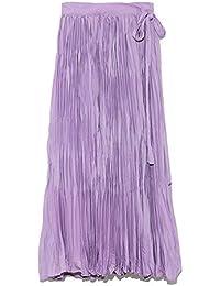 [ミラ オーウェン] スカート ワッシャーマキシ丈巻きスカート 09WFS191066