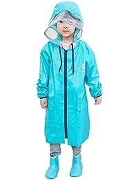 ベビーポンチョ、キッズレインコート子供レインウェア防水防寒ベビー雨具 ブルー 3XL/145-160cm