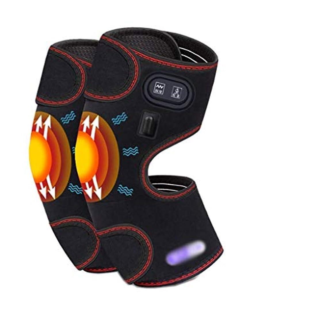 堂々たる振動させる車両電気加熱式膝パッド、レッグマッサージャー、カーボンファイバーヒーティングサイクル、3つのマッサージモード/ 3つの調整可能な温度、血液循環の促進、筋肉の弛緩、痛みの緩和