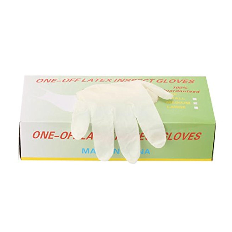 お茶倫理重量パウダーフリー使い捨てゴム手袋 100枚入 全3種 Mサイズ [ 手袋 グローブ ゴム手袋 使い捨て手袋 使い捨てグローブ ]