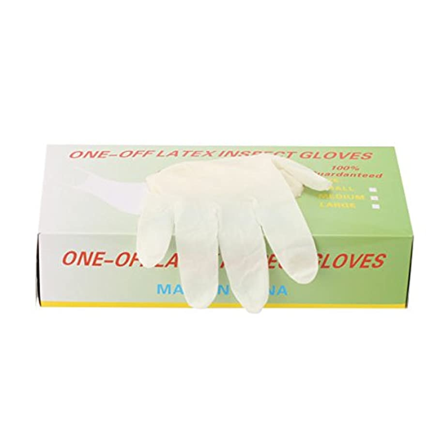 驚き刺激するリンクパウダーフリー使い捨てゴム手袋 100枚入 全3種 Lサイズ [ 手袋 グローブ ゴム手袋 使い捨て手袋 使い捨てグローブ ]