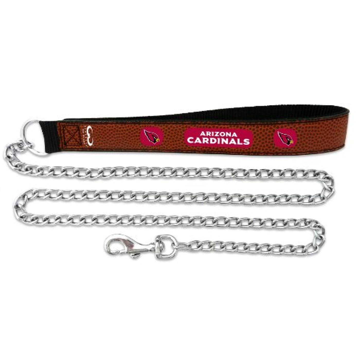 先住民対処する静かなArizona Cardinals Football Leather 2.5mm Chain Leash - M