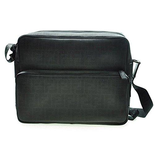 [フェンディ]FENDI ZUCCA メンズ ショルダー ビジネス バッグ BLACK(ブラック) 7VA233-UZD-F0XB8 [並行輸入品]