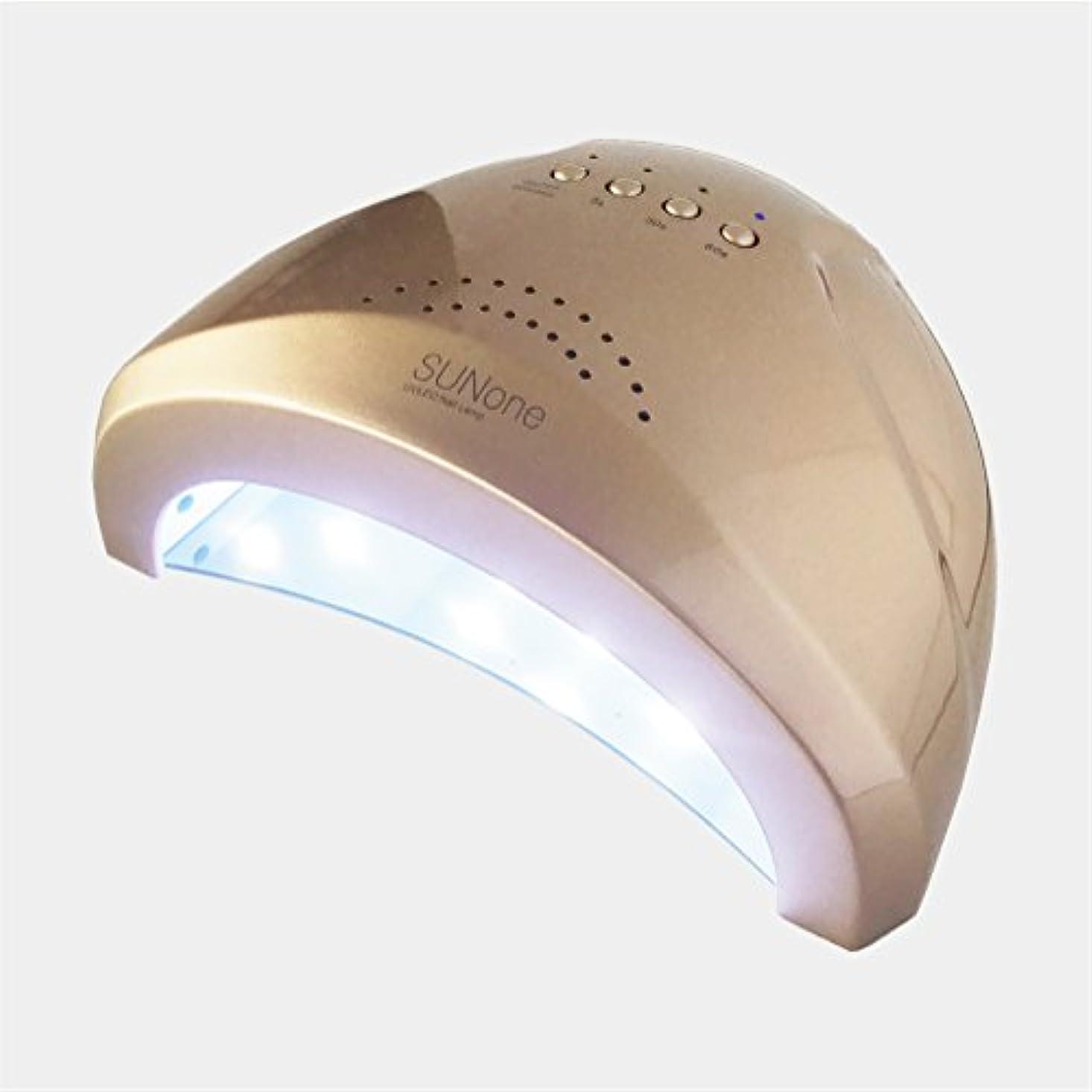 パノラマ保持保守可能ジェルネイル?クラフトレジン 48w UV/LEDライト 2in1 人感センサー付き ネイルドライヤー UV/LED兼用ライト 【保証付き】 カラー:ゴールド