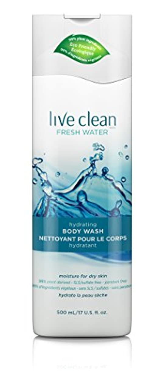親指補正インクLive Clean Fresh Water Hydrating Body Wash, 17 oz.