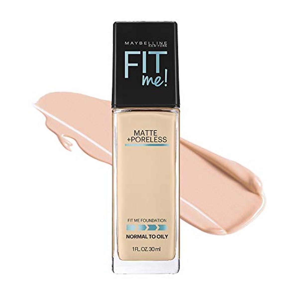 ストレスの多い一般的に作りメイベリン フィットミー リキッド ファンデーション 115 標準的な肌色(ピンク系)