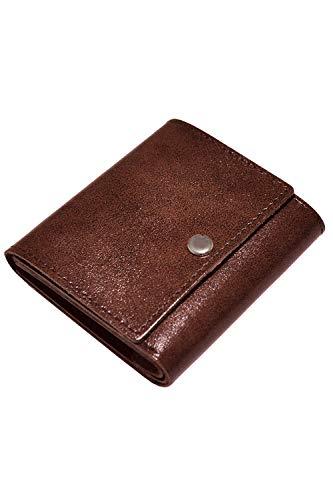 ミニ財布 innocenzi イノセンツィ 本革 極限まで無駄を省いた小さい財布 小銭入れ パスケース 姫路レザー使用 (チョコレート)