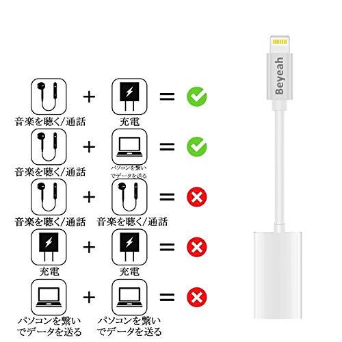 『iPhone 充電 イヤホン 同時 イヤホン・ヘッドフォンジャックアダプタ 高耐久 iPhone イヤホン 変換 通話可能 音楽調節 iPhone X/XR/XS/XS Max/8/8plus/7/7plus(IOS12対応) iphone Lightning2in1』の5枚目の画像