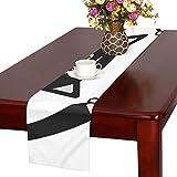 GGSXD テーブルランナー 小柄 黒い猫 クロス 食卓カバー 麻綿製 欧米 おしゃれ 16 Inch X 72 Inch (40cm X 182cm) キッチン ダイニング ホーム デコレーション モダン リビング 洗える