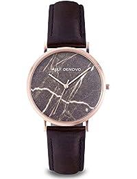 [アリーデノヴォ] ALLY DENOVO 腕時計 Carrara Marble 40mm ローズゴールド / ブラウン メンズ ウォッチ AM5010-8
