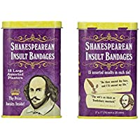 [アカウントリメンツ]Accoutrements Shakespearean Insult Bandages 2 Tin Packs [並行輸入品]
