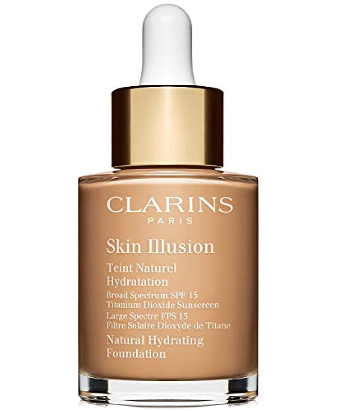カウンターパート外部飢えクラランス Skin Illusion Natural Hydrating Foundation SPF 15# 110 Honey 30ml/1oz並行輸入品