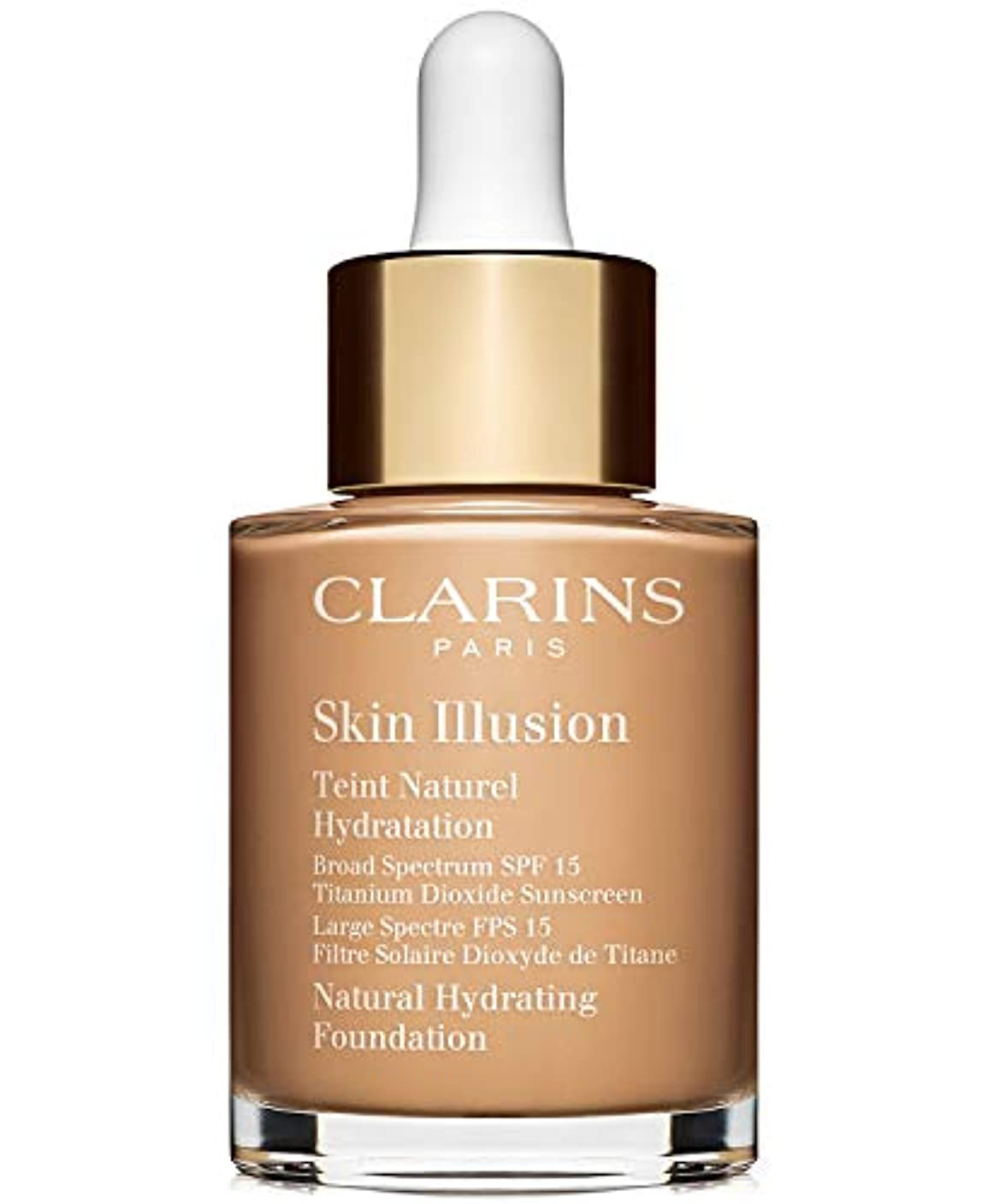 毛布文化エンドウクラランス Skin Illusion Natural Hydrating Foundation SPF 15# 110 Honey 30ml/1oz並行輸入品