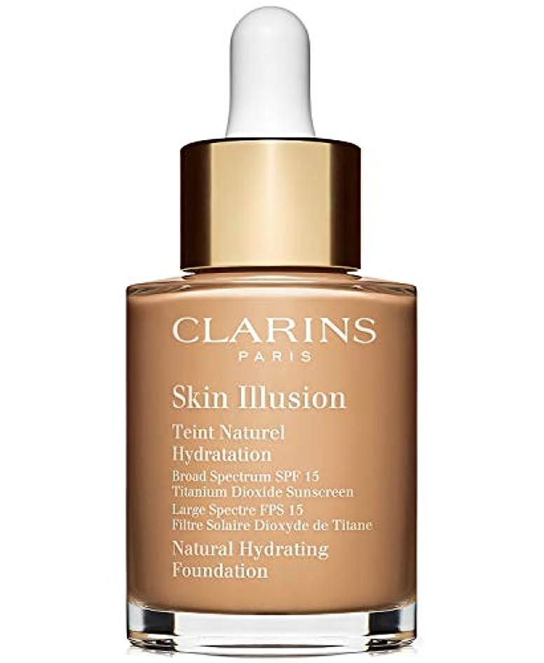 億細いグリットクラランス Skin Illusion Natural Hydrating Foundation SPF 15# 110 Honey 30ml/1oz並行輸入品