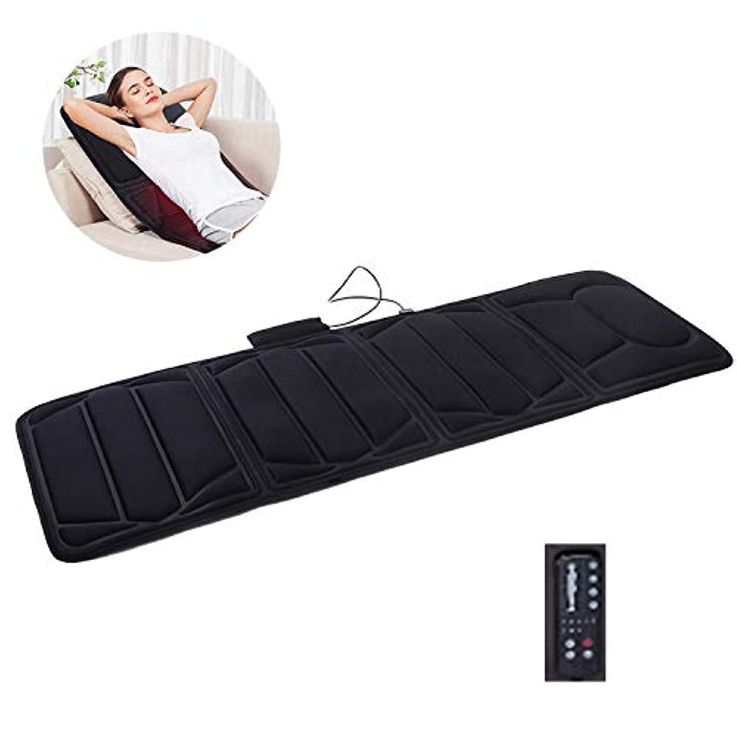 シャッフル独創的バンカー電動マッサージチェアシートクッションパッド背中の痛みを軽減するフルボディマッサージのための2つの暖房パッドが付いている10のモーター振動のマッサージのマットレスパッド