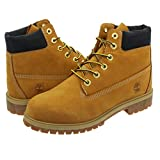 [ティンバーランド] 6inch PREMIUM BOOT WP JUNIOR'S WHEAT NUBUCK_在庫_23.0cm