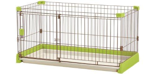 リッチェル ペット用 お掃除簡単サークル 120-60 グリーン
