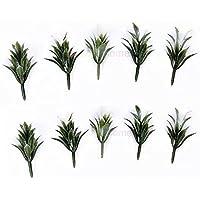 ミニチュアドールハウス妖精Gardenモデルホワイト植物 – 10のセット