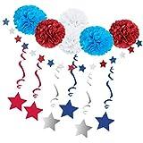 Fenteer パーティー装飾 スターストリング ペーパーフラワーポンポン DIY 雰囲気作り