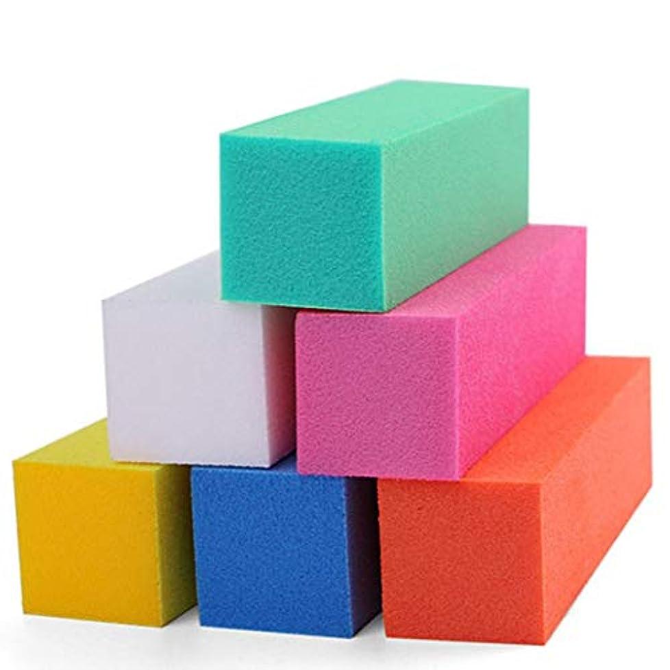 節約する昼間認可Intercoreyプロフェッショナルカラフルなネイルファイルバッファ研磨ブロックサンディングネイルアートマニキュアスポンジセットバックマニキュアツール