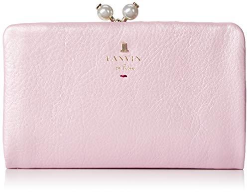 [ランバンオンブルー] 折り財布 パール付き二つ折り口金財布 シャペル