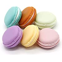 Macaron Case, 6 pcs Mini Macaron Box, Macaron Jewelry Box, Macaron Cute Pill Box, Colorful Macaron Jewelry Storage Box, Shape Storage Box Candy Cute Pill Organizer Case Container