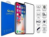 What @ Store iPhone XR対応アンチグレアアンチ指紋[マット]湾曲した3D強化ガラス、4D 100%Edge to Edgeのフルカバレッジスクリーンプロテクター(iPhone XR用)
